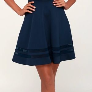 Lulu's Stretch Navy Blue Dress - Perfect Condition